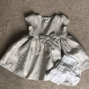 Baby shimmery brocade holiday dress